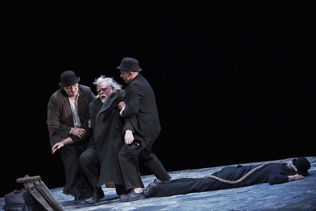 Perfomance image, Estragon, Pozzo, Vladimir and Lucky