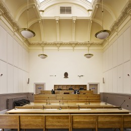 Interior view showing courtroom
