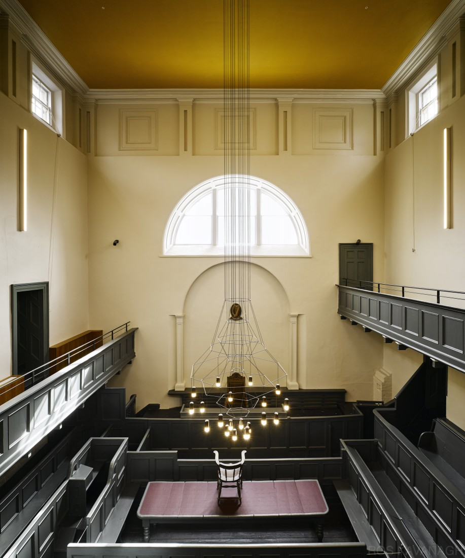Overhead view of court room