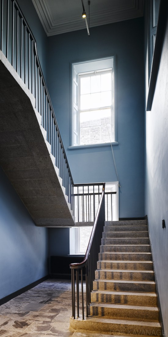 Interior view of stairwell