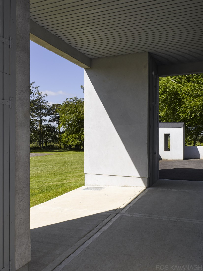Kilreekil School view of covered walkway showing landscape