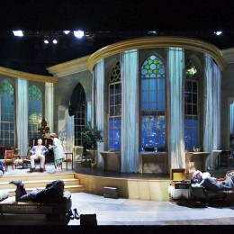 Showing the cast and set design