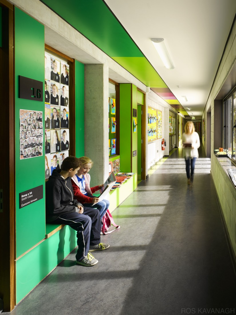 View of corridor showing children