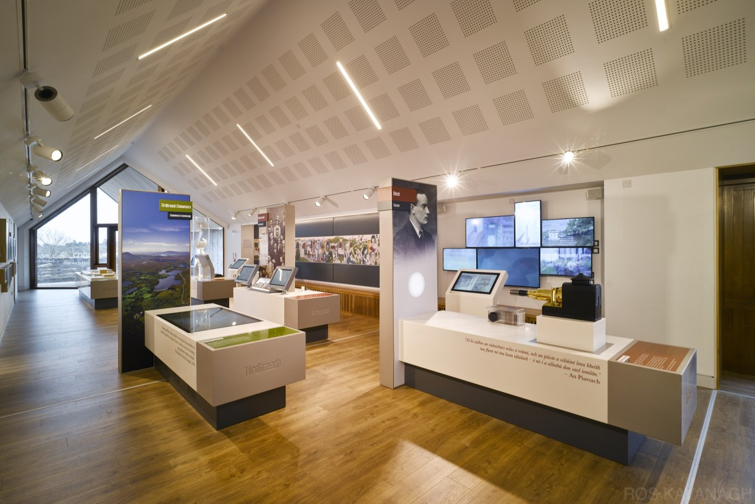 Interior view of exhibition area