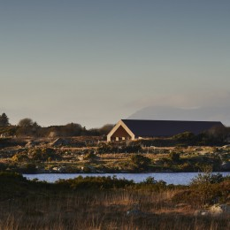 Exterior view of centre showing the Connemara bog and Lough Aroolagh