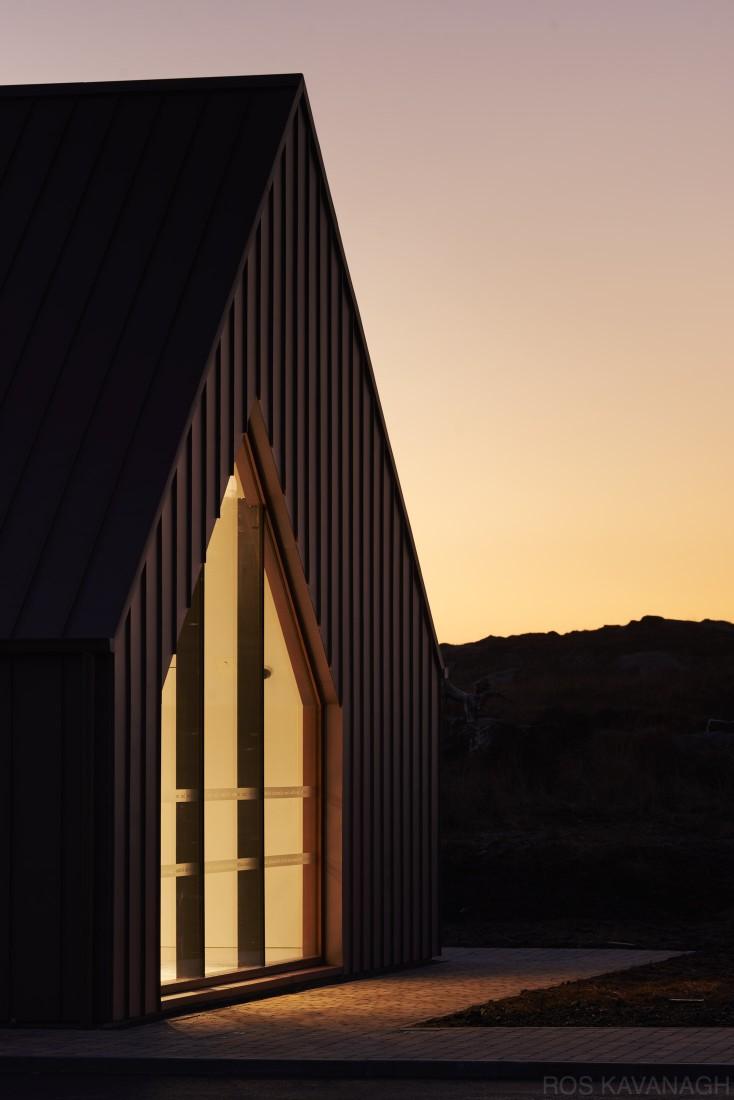 Exterior facade at dusk