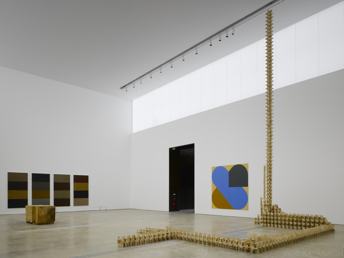 'Fallen Caryatid' by Michael Warren, '4 Towers' by Sean Scully, 'Shuffle' by Richard Gorman and 'More than anything' by Maud Cotter