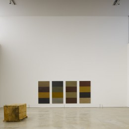 'Fallen Caryatid' by Michael Warren and '4 Towers' by Sean Scully