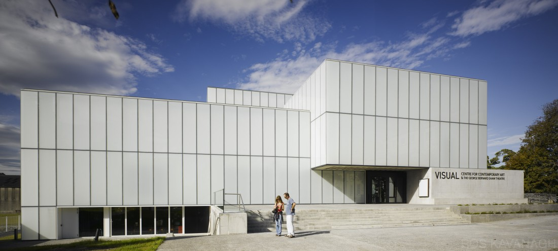 Oblique view of building