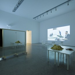 Showing video projection and artefacts
